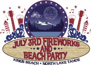 Julsy 3 fireworks and beach party kings beach north lake tahoe california