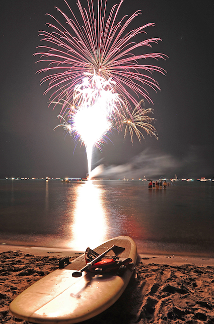 July 3rd fireworks and beachparty kings beach north lake tahoe