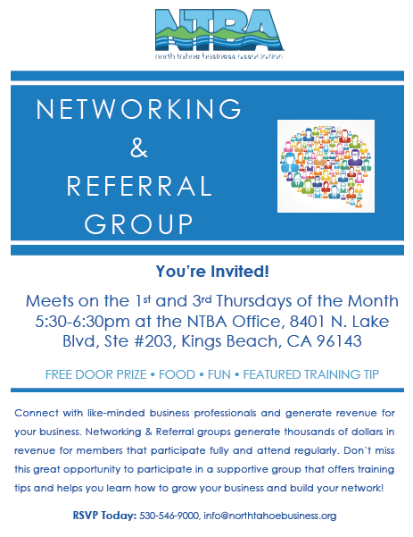 Networking and referral meetings flyer