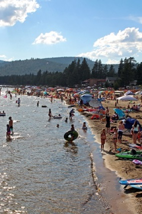 July 3rd fireworks and becah party kings beach north lake tahoe